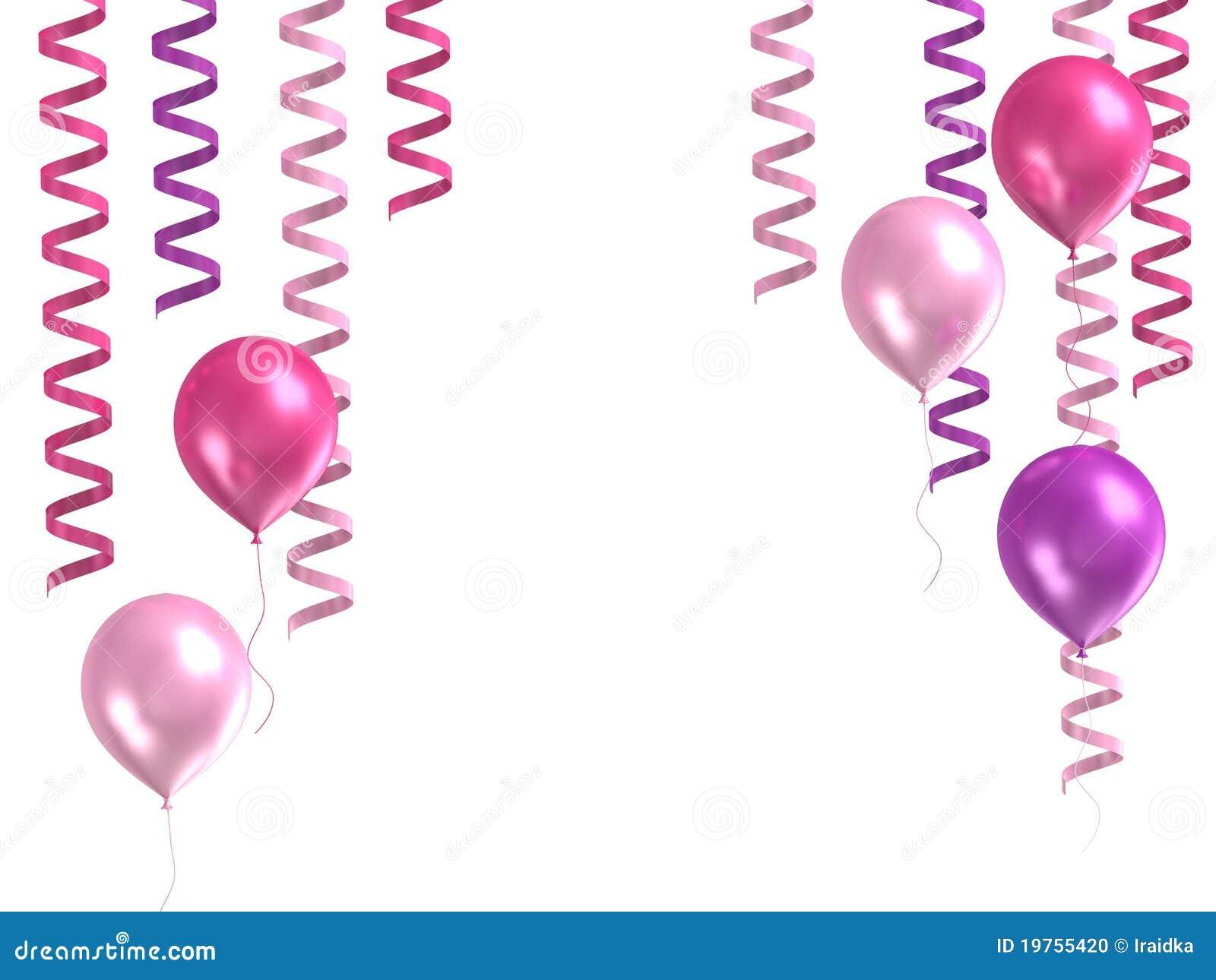 3d purple ballons