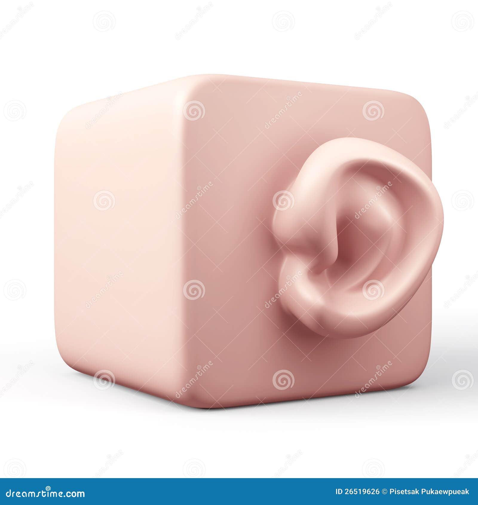 3D que obstrui a orelha