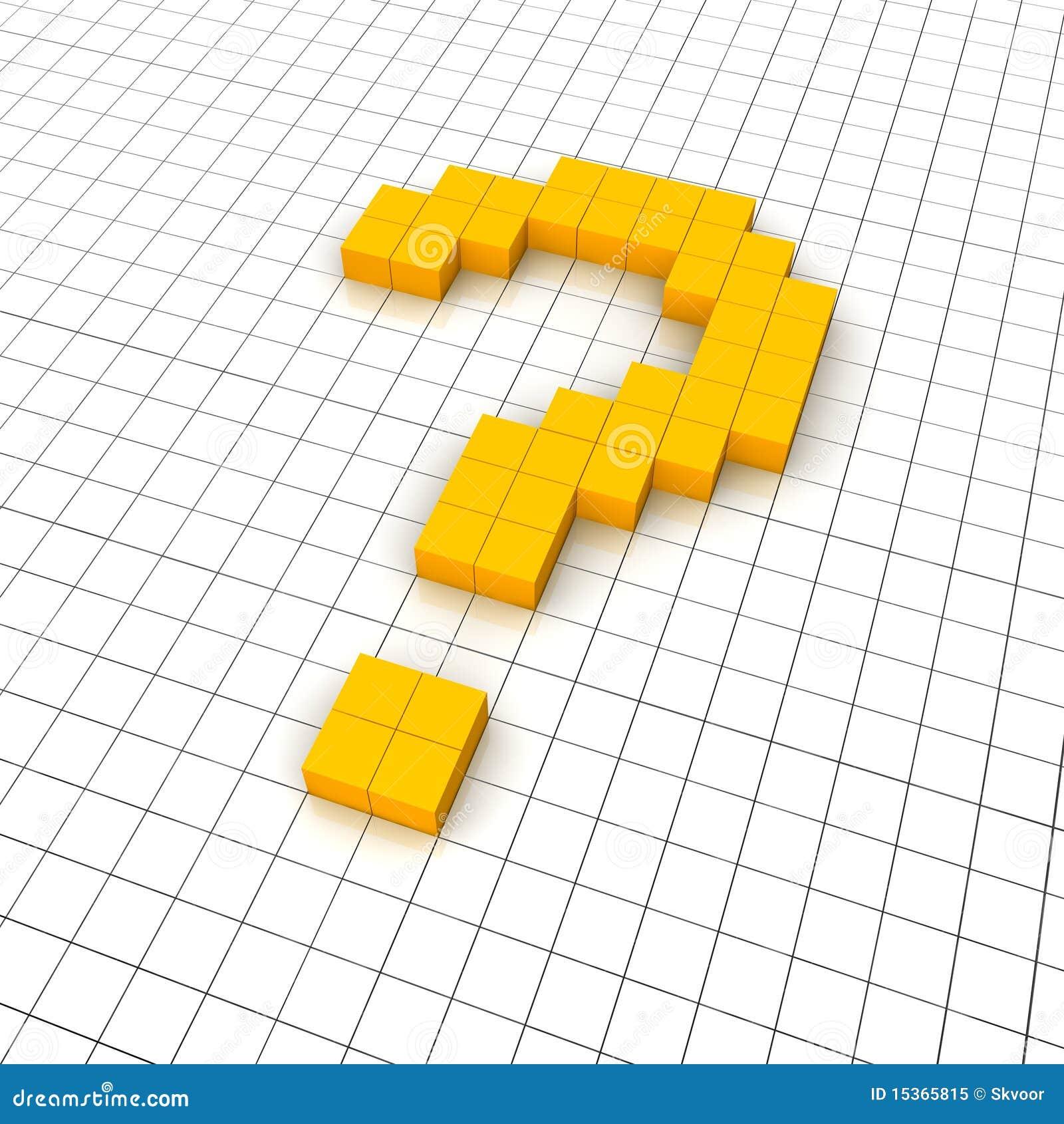 3d Question Mark Icon Stock Illustration. Illustration Of