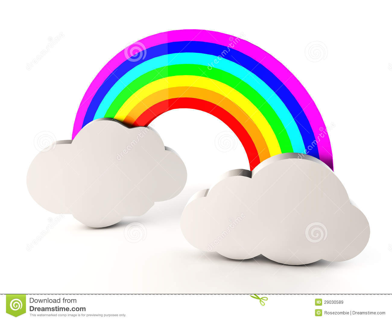 3d Rainbow Royalty Free Stock Images