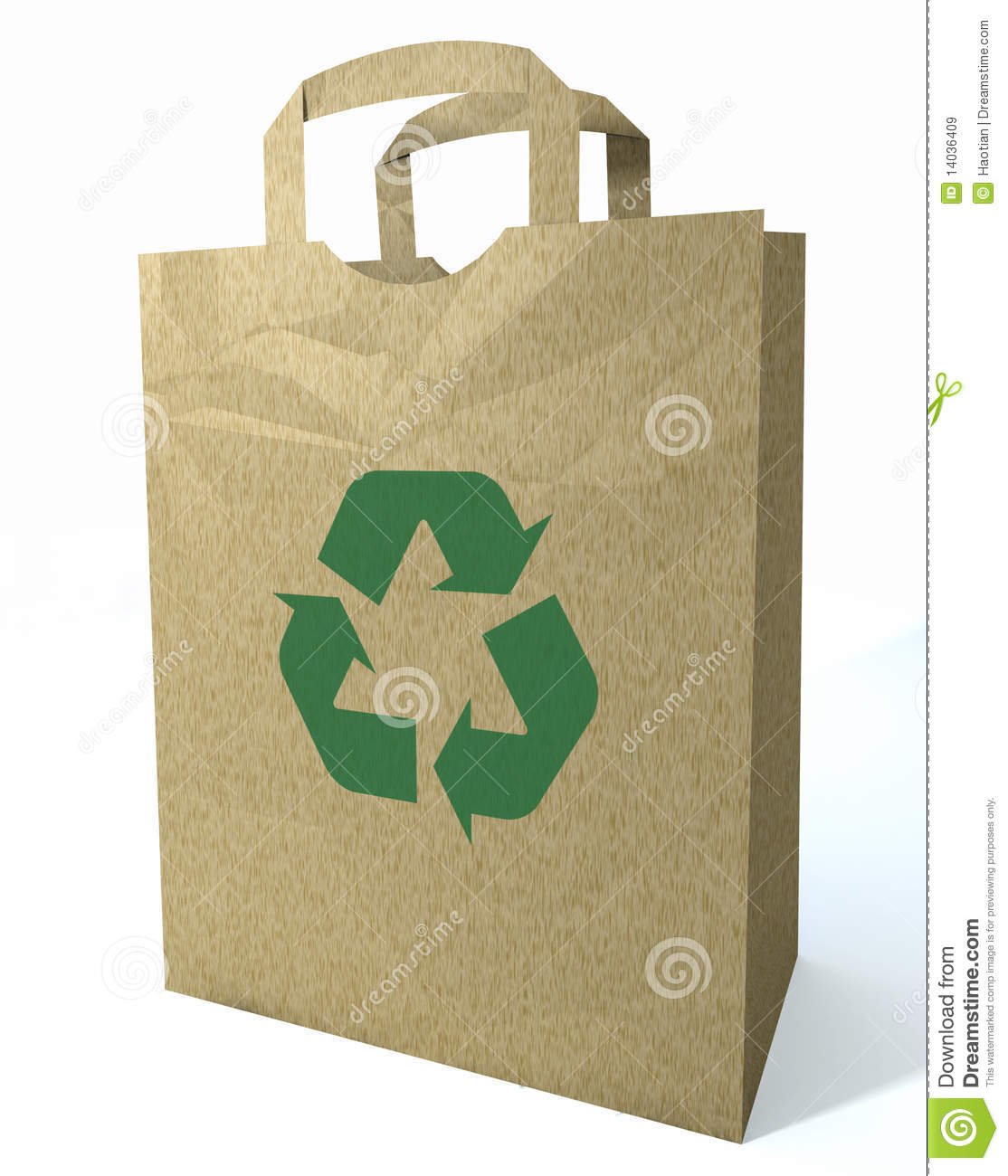 3d Recycled Shopping Bag Royalty Free Stock Images - Image: 14036409