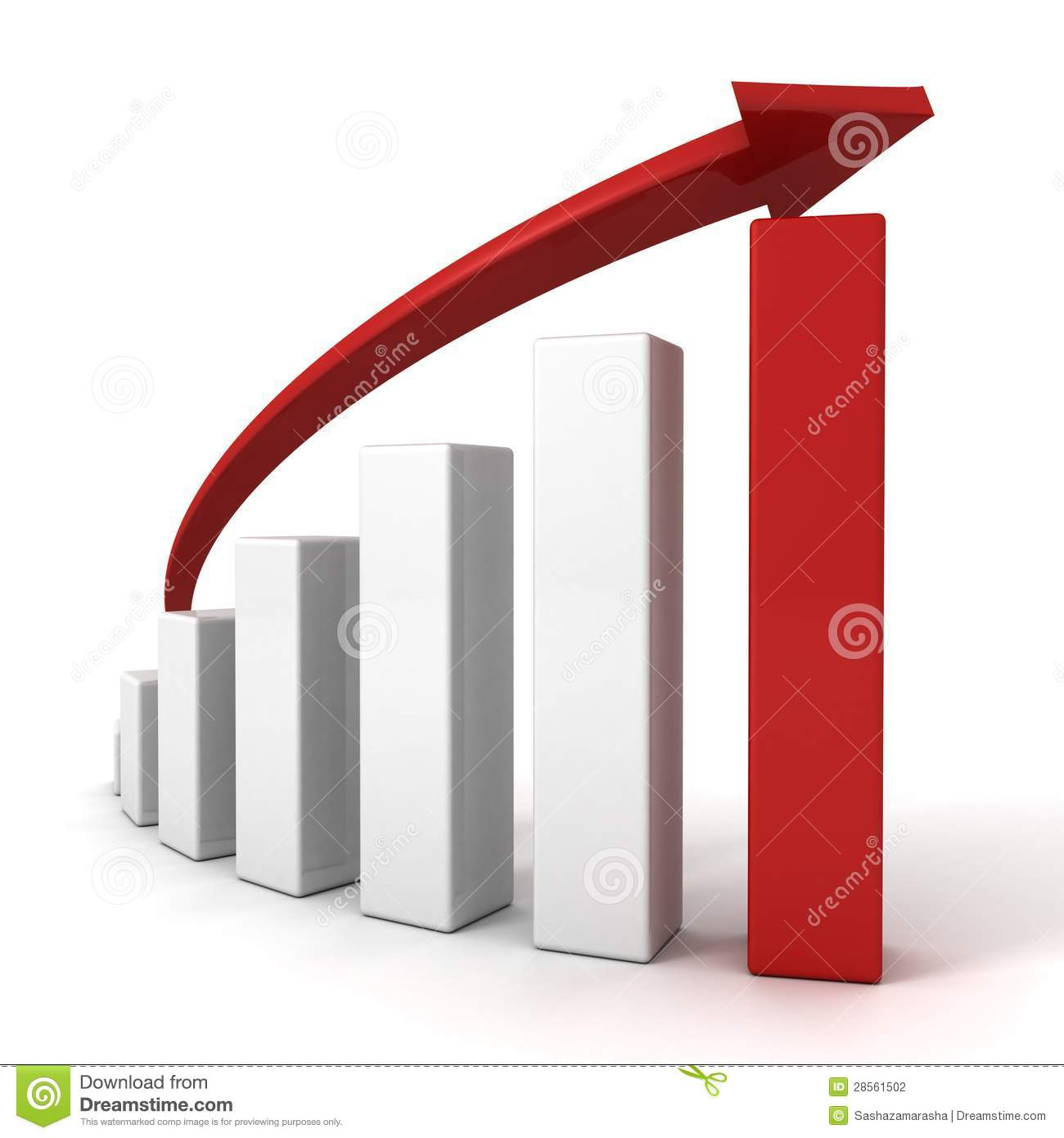 3d red arrow and success bar graph growing up stock free accounting clipart pictures free accounting clip art for powerpoint