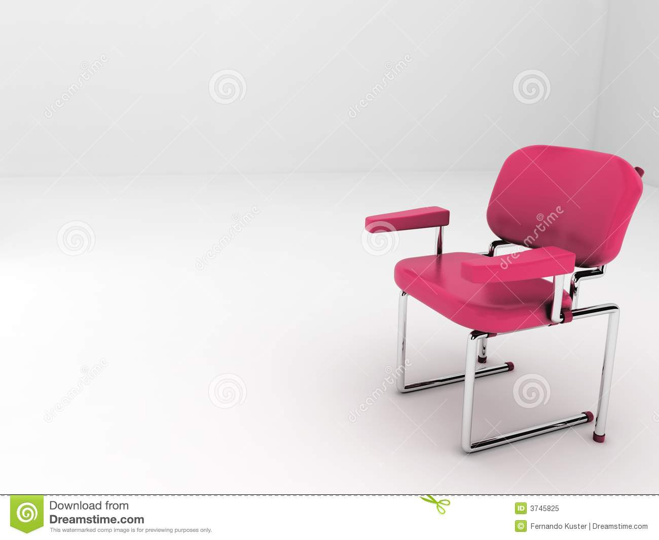 Alone on the red chair