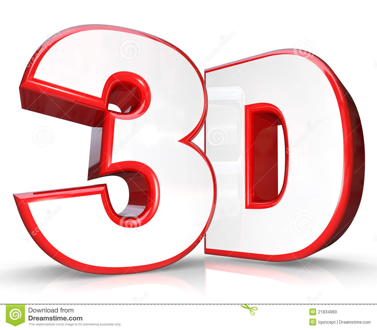 Stock Photo 3d Red Letter Number Three Dimensional Viewing Image218349...