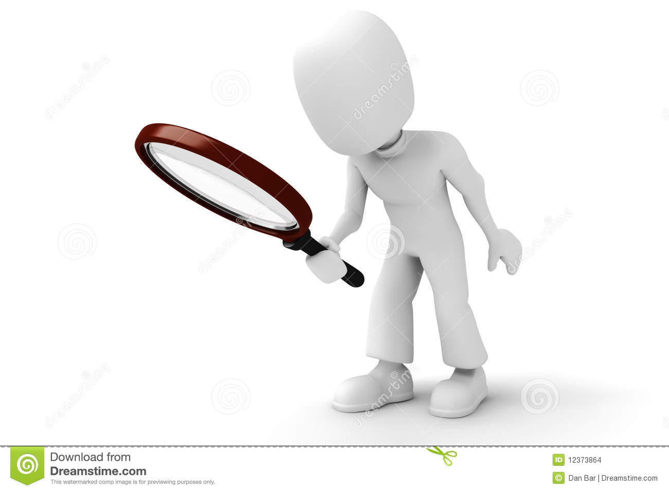 Man With Magnifying Glass Looking For Coins Stock Photo, Picture ...