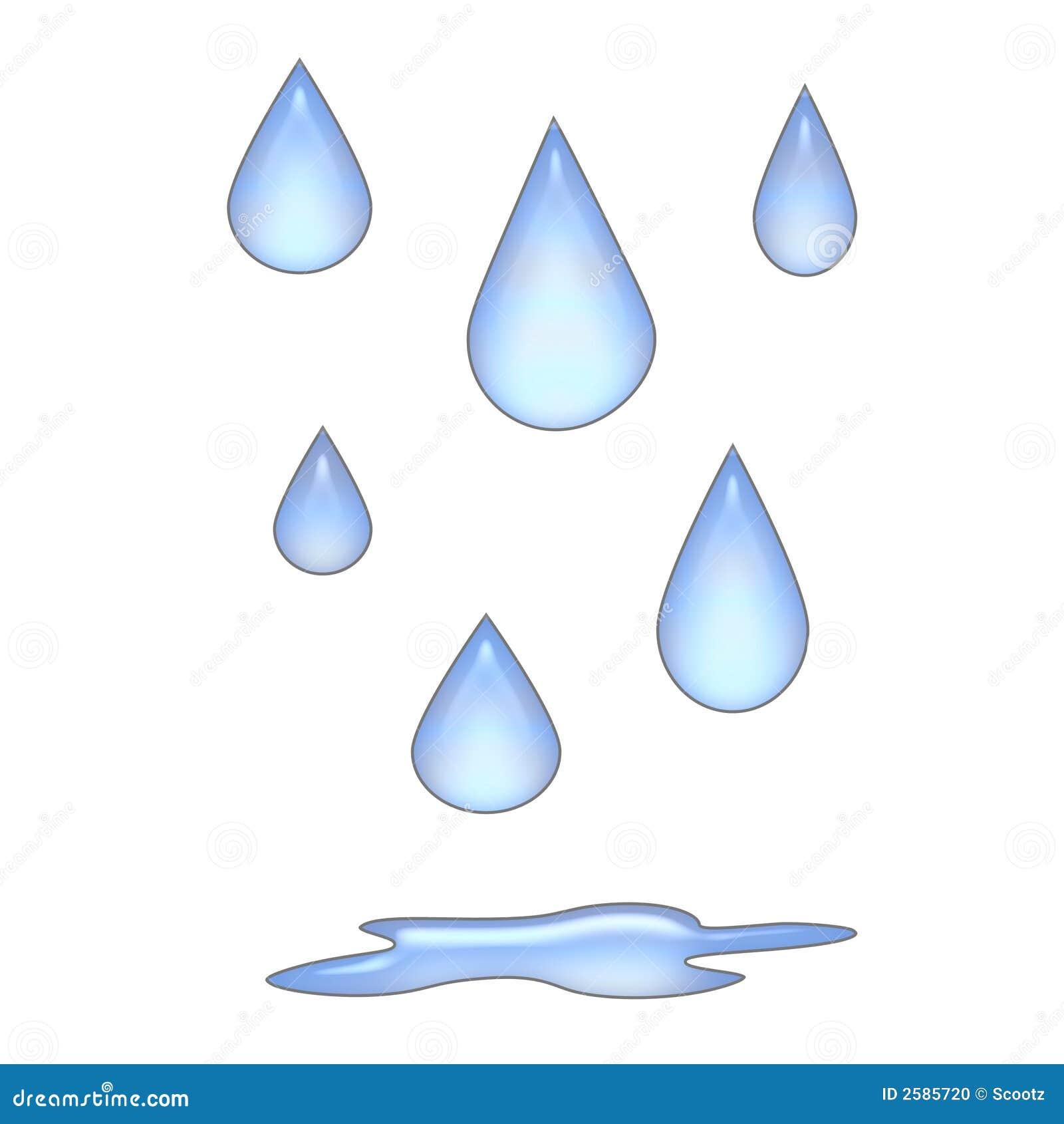 3d regendruppels