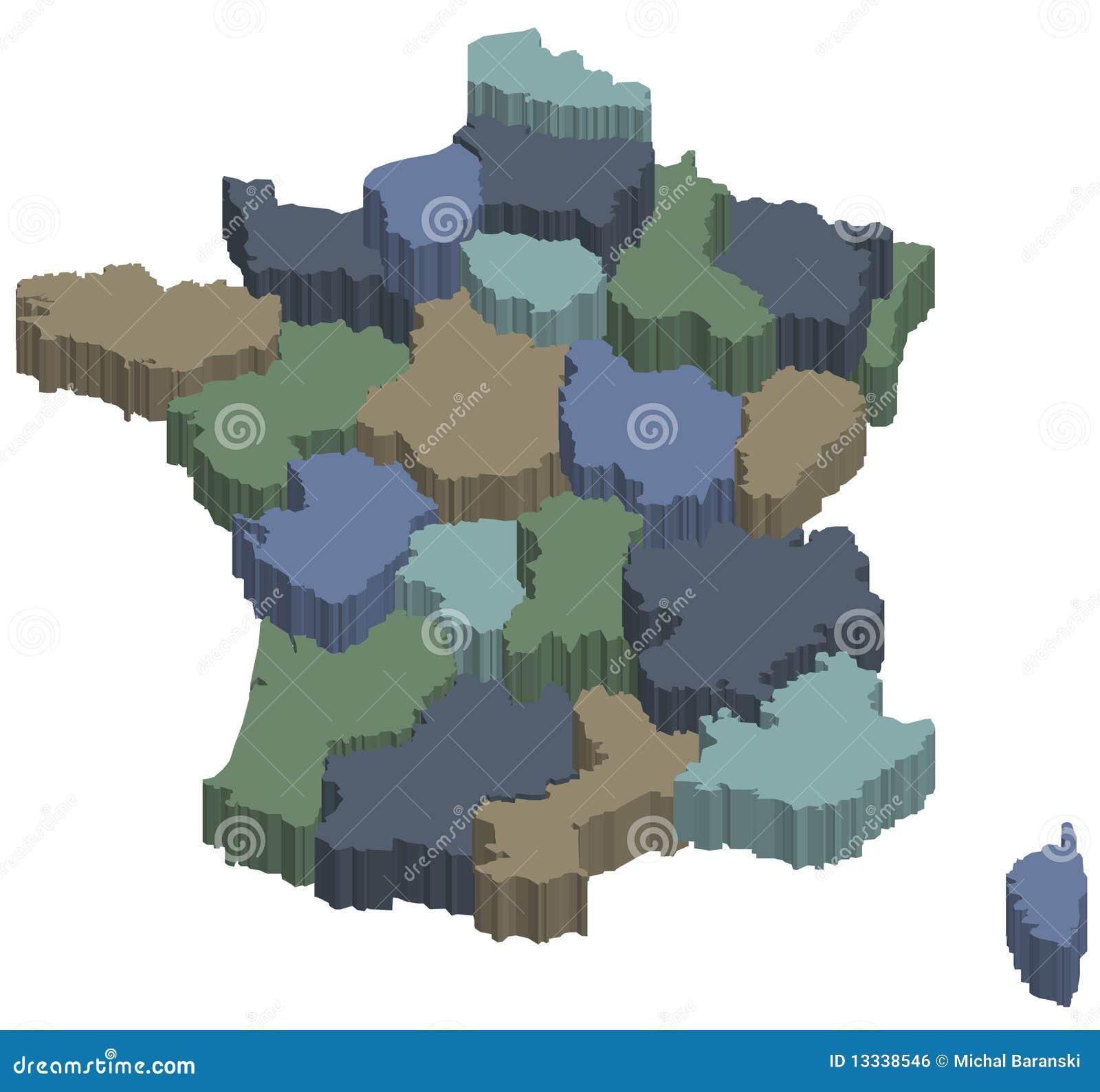 3d regiony France