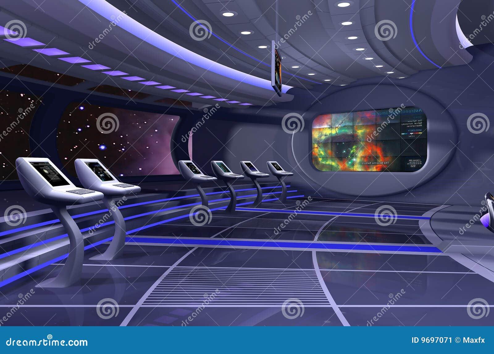3d rendem da nave espacial imagem de stock imagem 9697071 for Interior nave espacial