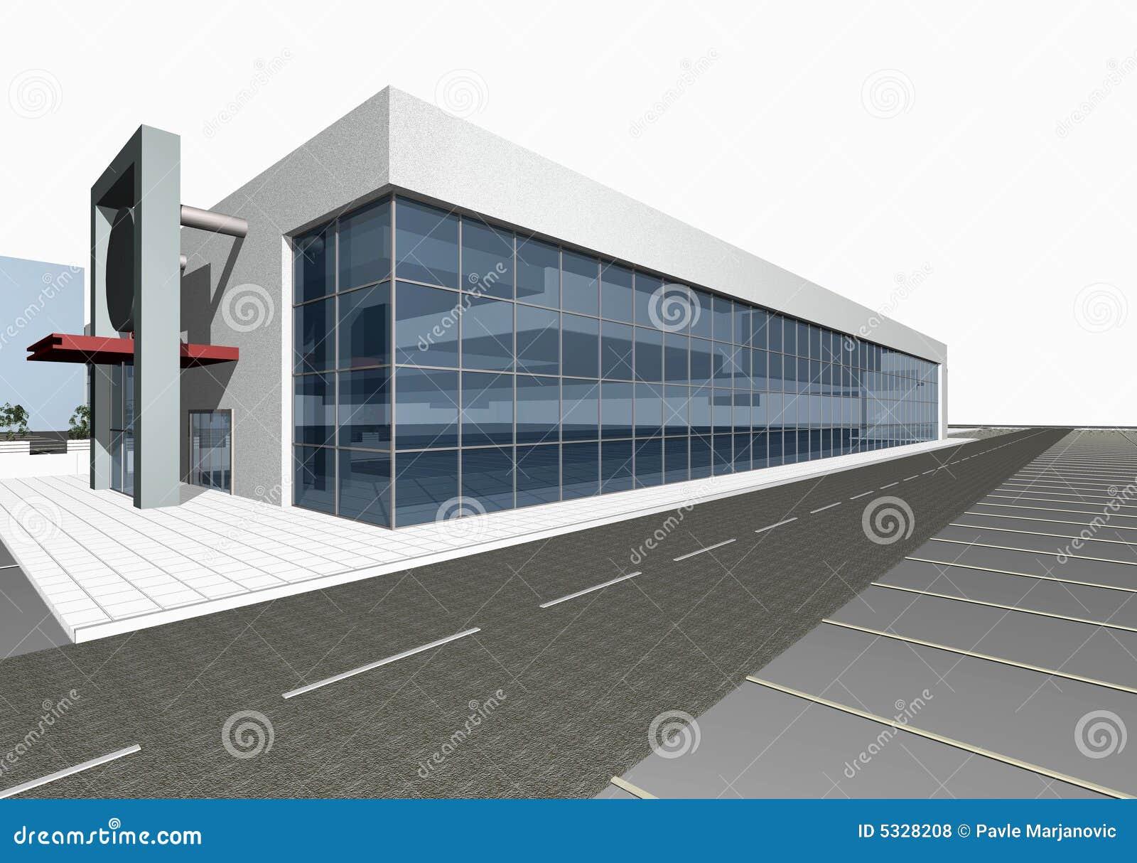 3D rendent de la construction moderne
