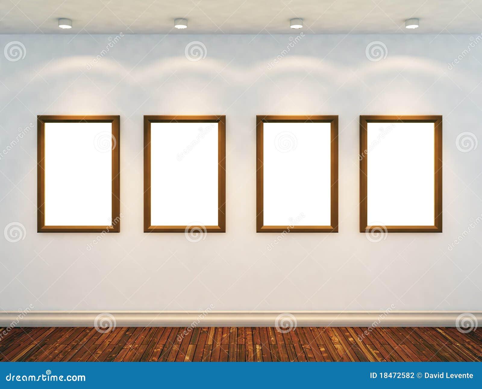 3d rendent de la pièce vide
