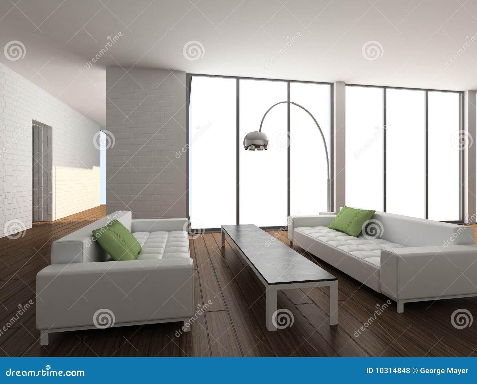 3D rendent l intérieur moderne de la salle de séjour