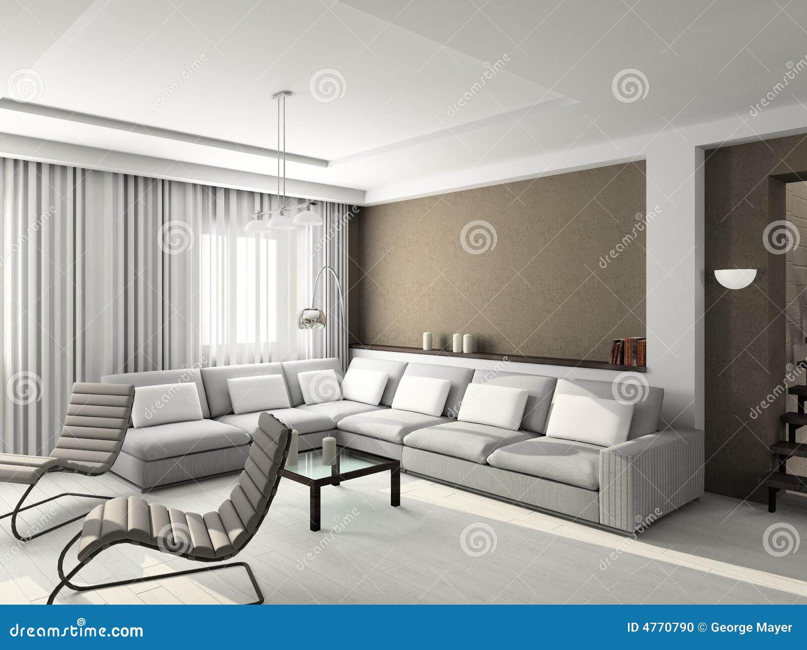 3d rendent l 39 int rieur moderne de la salle de s jour photo for Decoration de salle de sejour