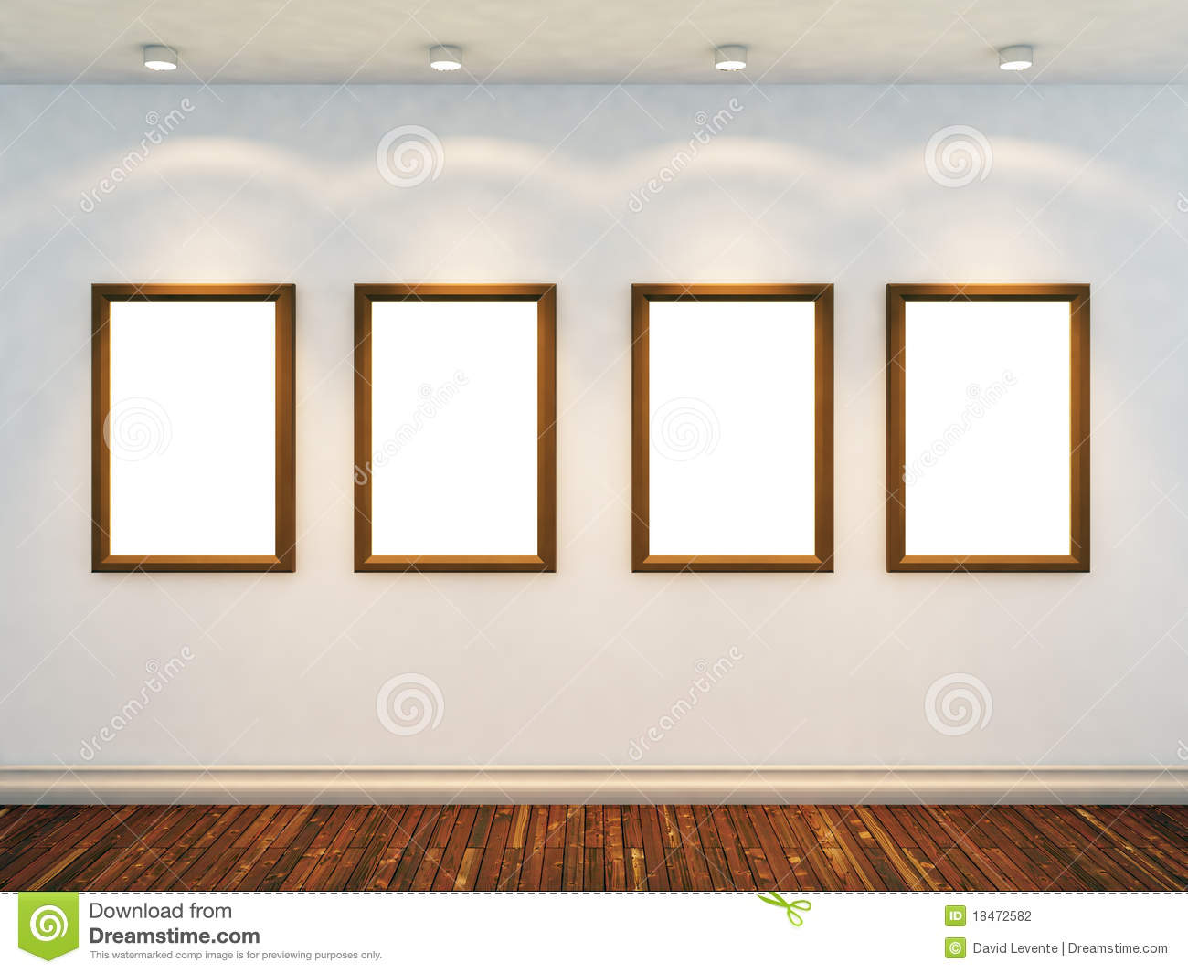 3d Render Of Empty Room Stock Photography Image 18472582