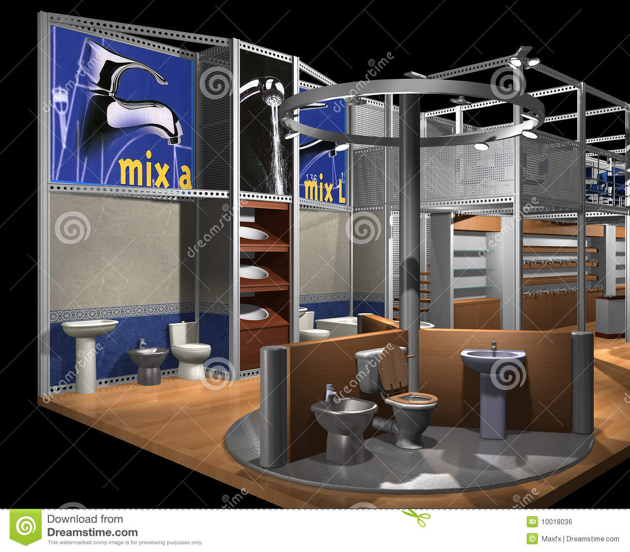 3d Exhibition Hall : D render of exhibition hall royalty free stock image
