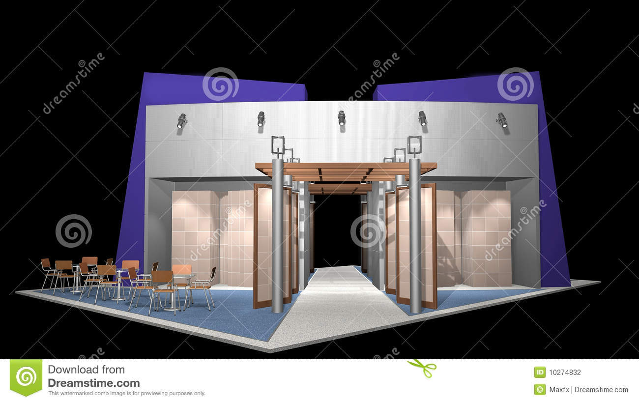 D Rendering Exhibition : D render of exhibition stand stock photography image