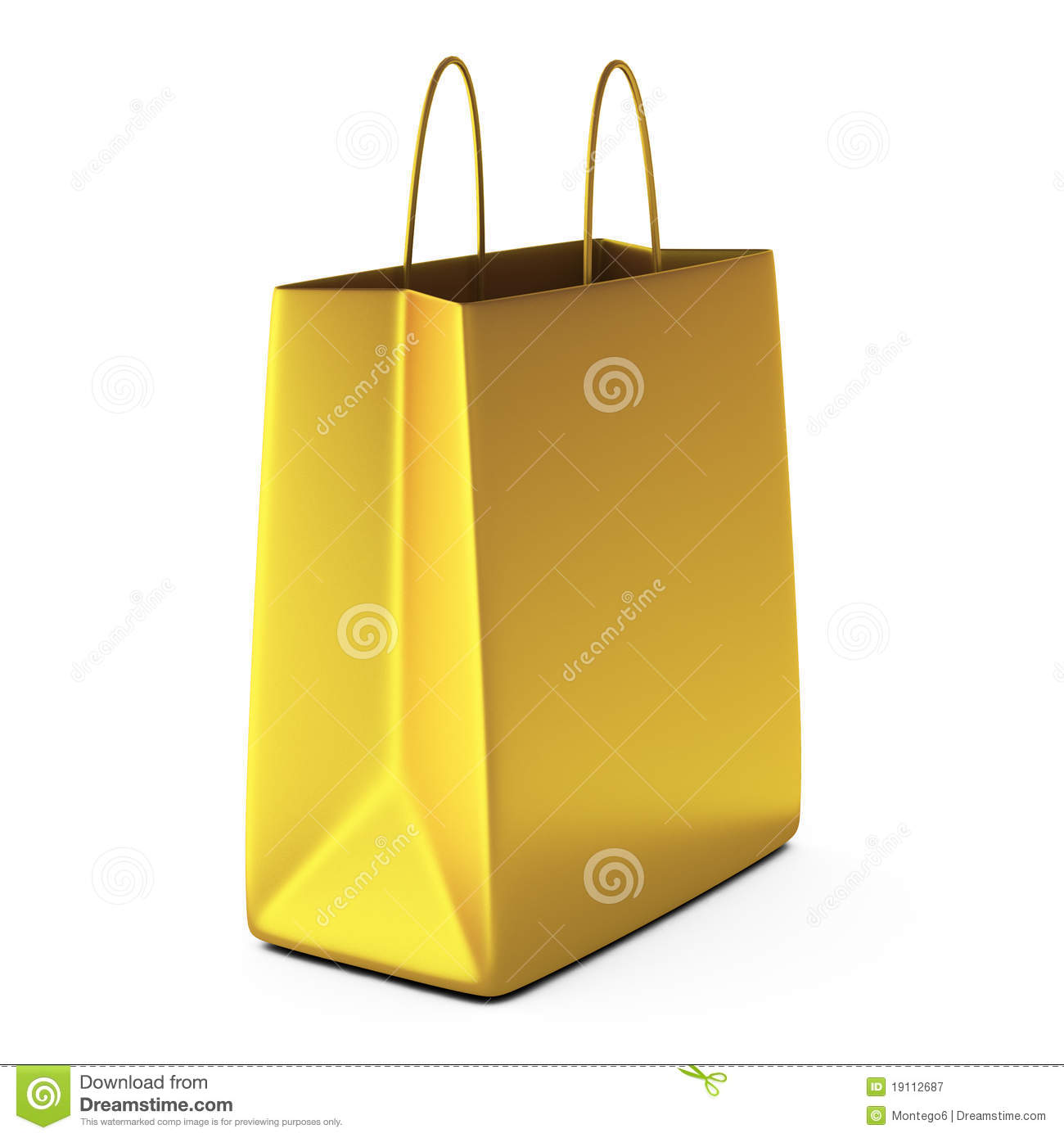 3d Render Of Golden Shopping Bag Royalty Free Stock Photography ...