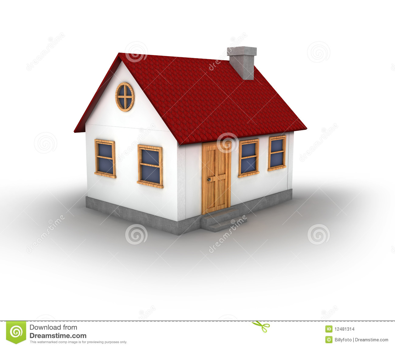 3d render of a house stock illustration illustration of for Picture of my home