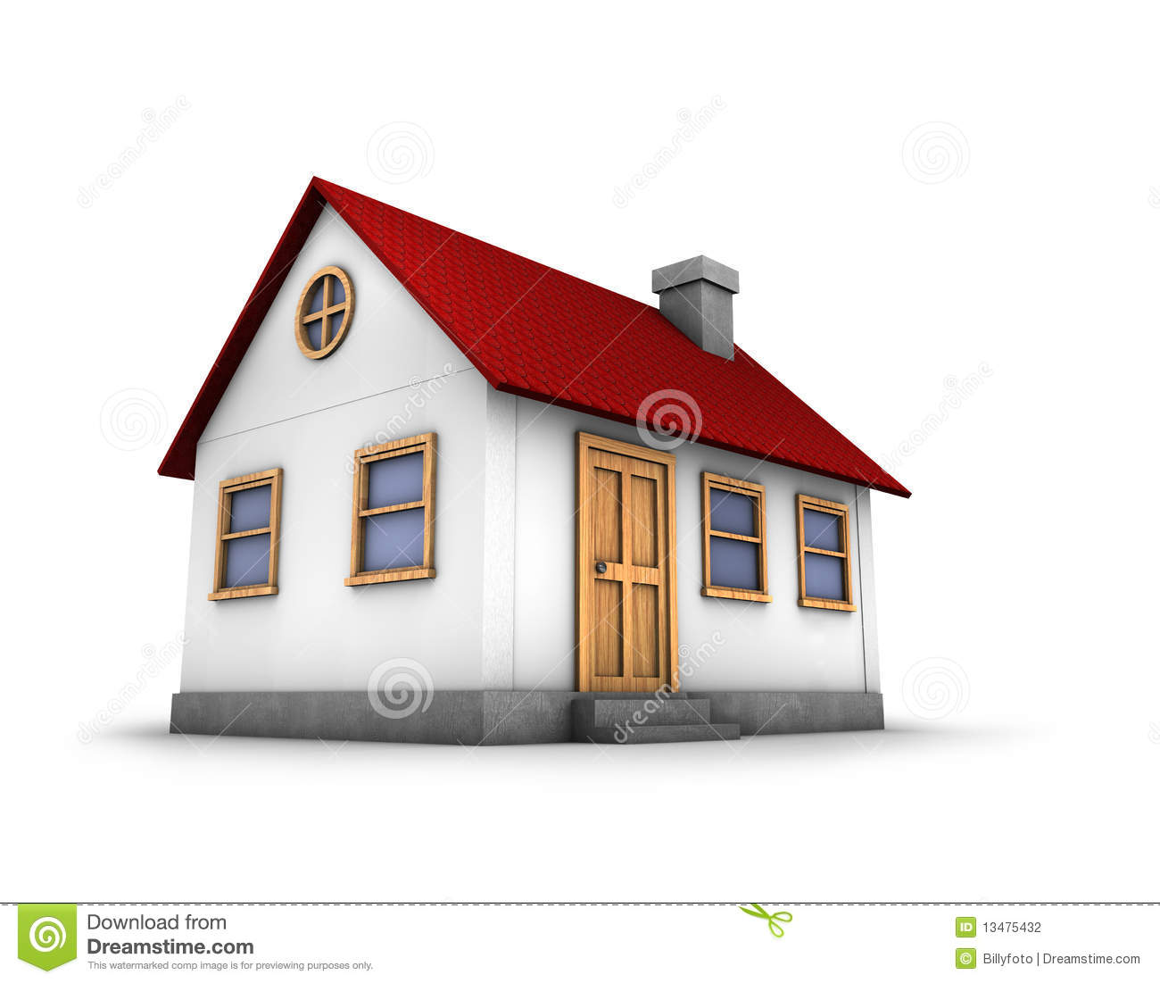 3d Render Of A House Stock Photography Image 13475432