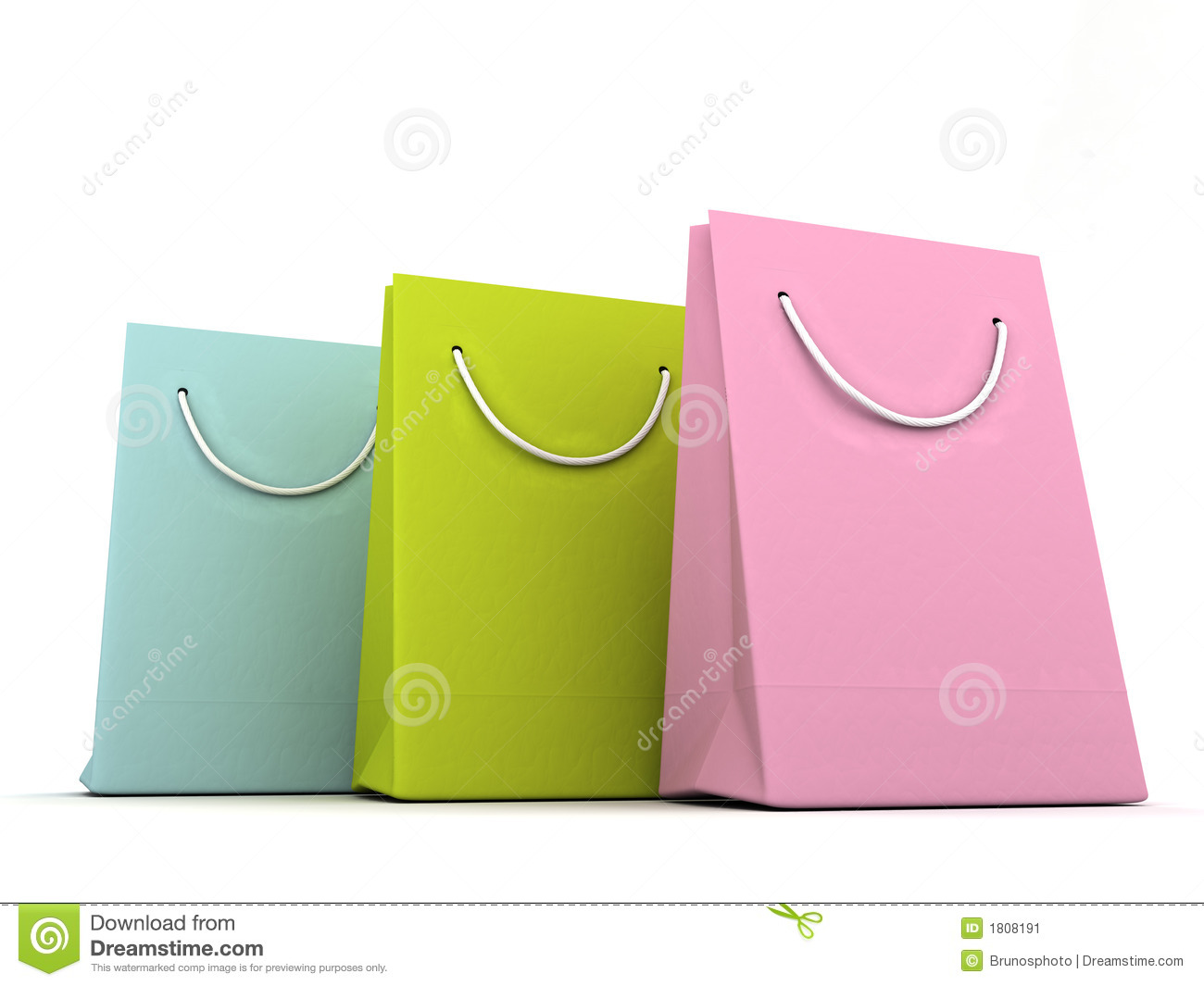 3D Render Of Luxury Shopping Bags Stock Image - Image: 1808191