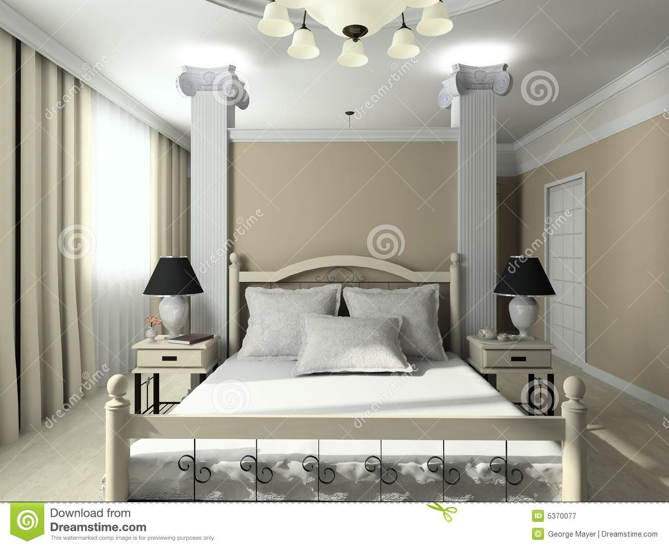 modern bedroom interior 3d render 3d render modern interior of bedroom royalty free stock 923