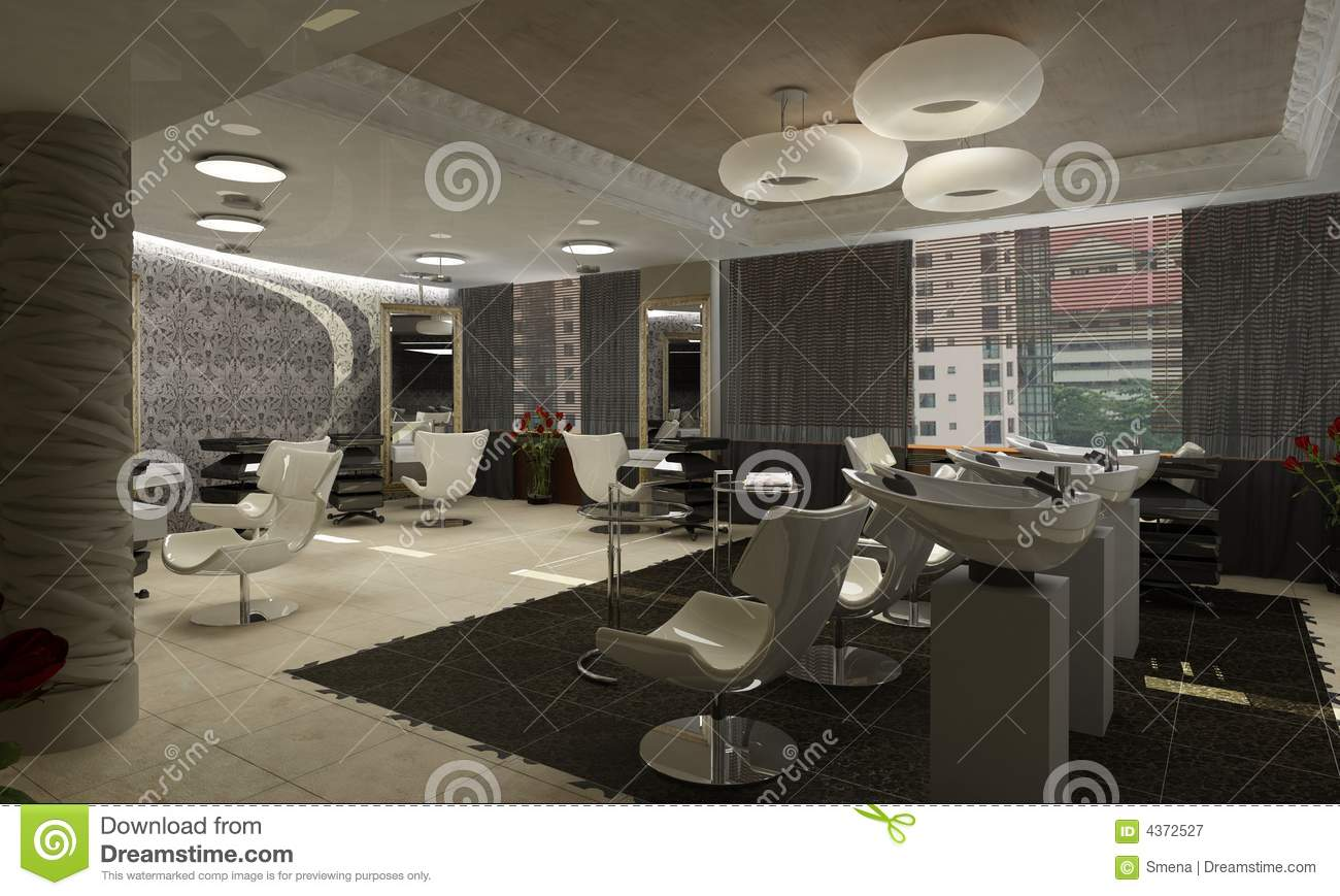 3d Render Of A Modern Interiorexclusive Design Royalty Free Stock