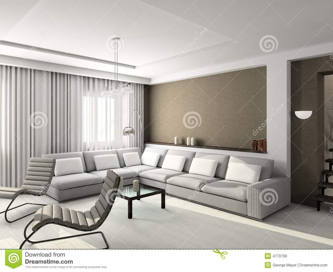 interior of living room photos 3d render modern interior of living room stock photo 23787