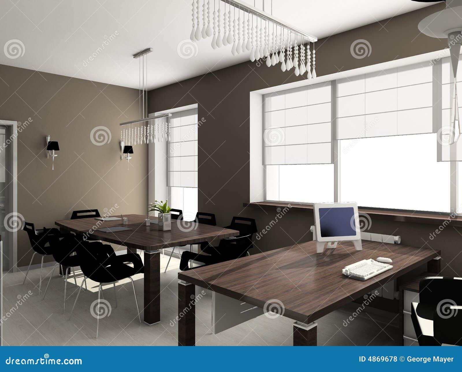 modern interior office stock. Download 3D Render Modern Interior Of Office Stock Illustration - Illustration, Interior: