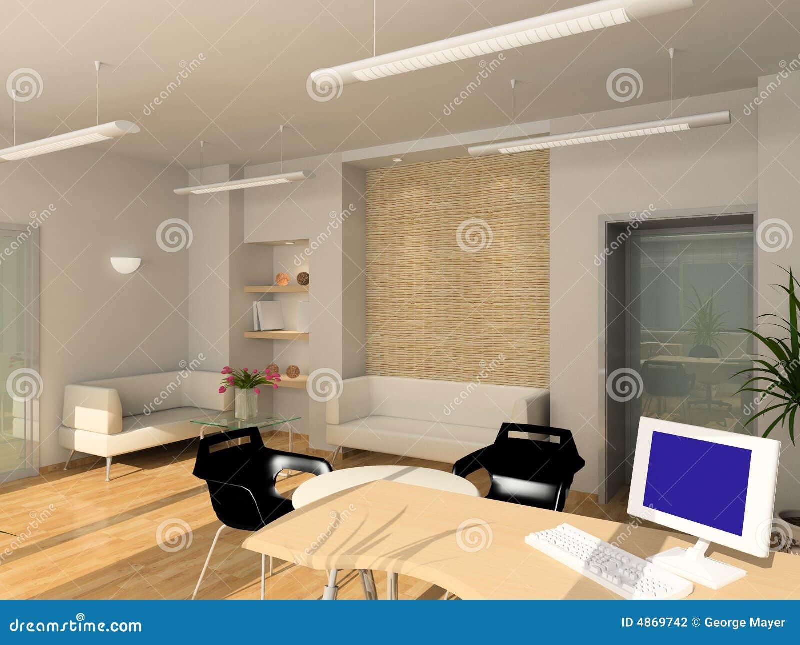 modern interior office stock. 3D Render Modern Interior Of Office. Cool, Department. Office Stock .