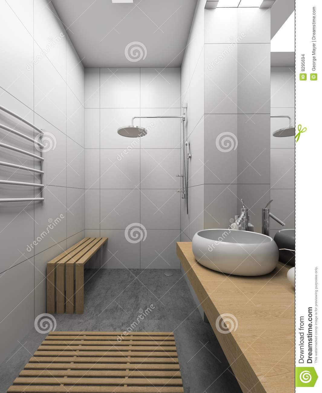 The toilet of modern interior design stock photo - Interiors commode ...