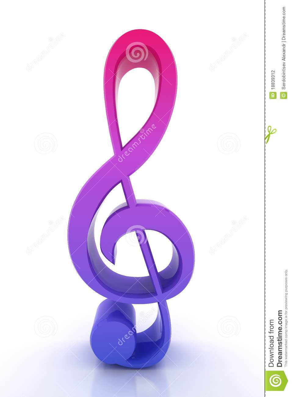 3d Render Musical Note Stock Photography - Image: 18839312