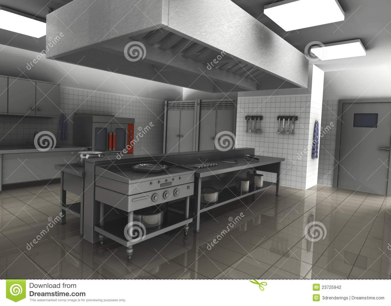 Professional Restaurant Kitchen Interior Stock Images Image
