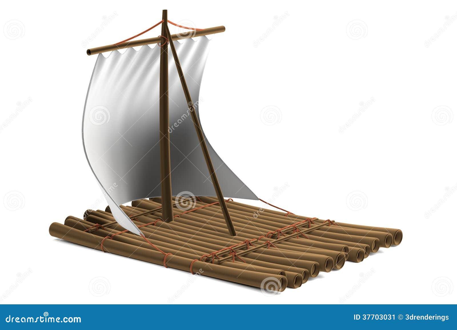 3d render of raft stock illustration. Image of ...
