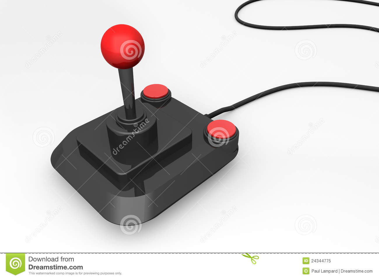 3d Render Of A Retro Joystick Royalty Free Stock Photo - Image ...