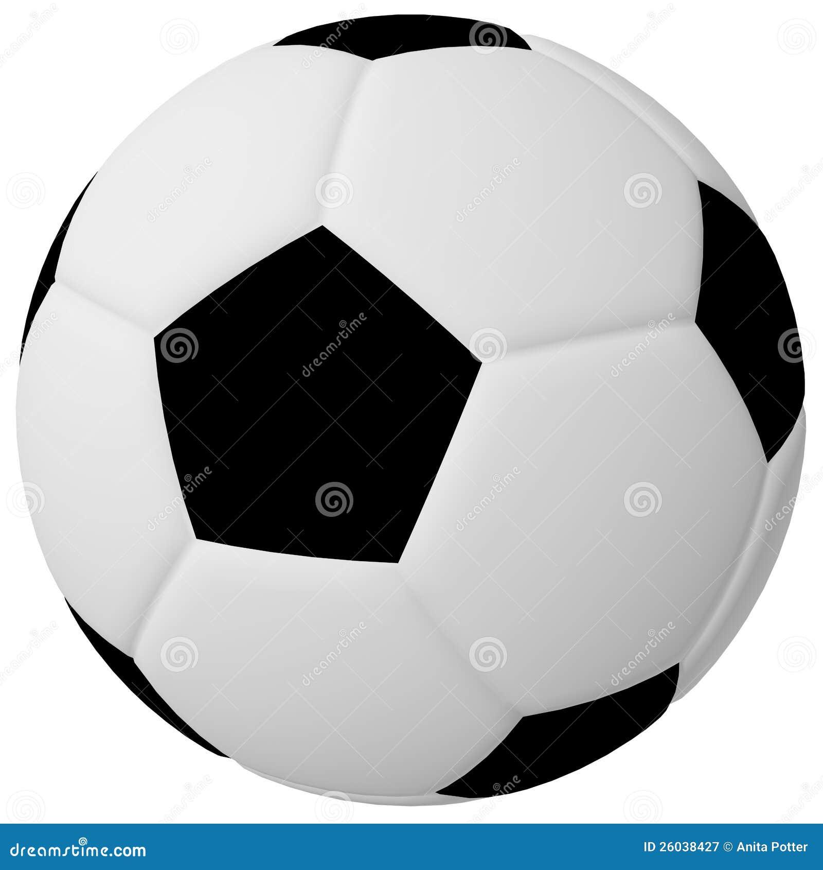 3d Render Of A Soccer/Football Ball Stock Illustration ...