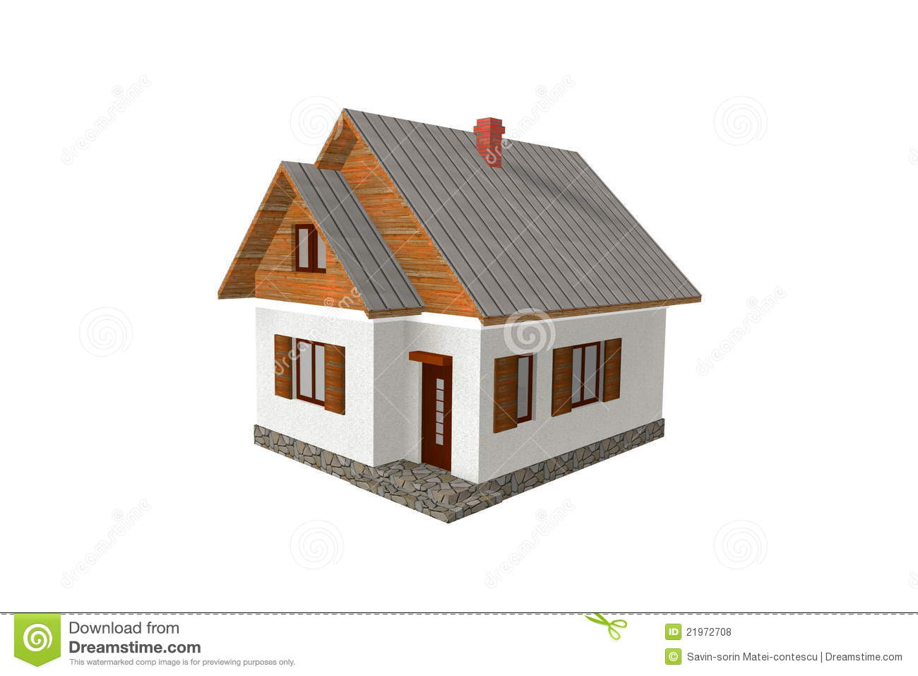 3d render traditional house royalty free stock photos for House rendering software free