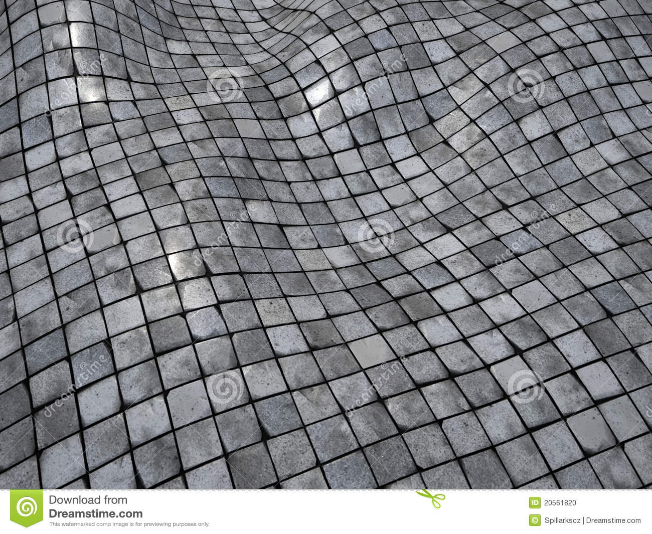 3d Render Wobble Mosaic Tile Floor Wall Surface Stock Photo - Image ...