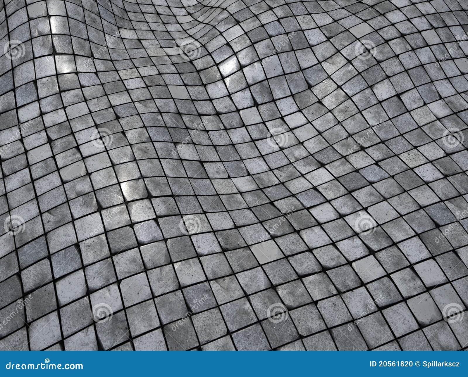 3d Render Wobble Mosaic Tile Floor Wall Surface Stock Photo - Image ...