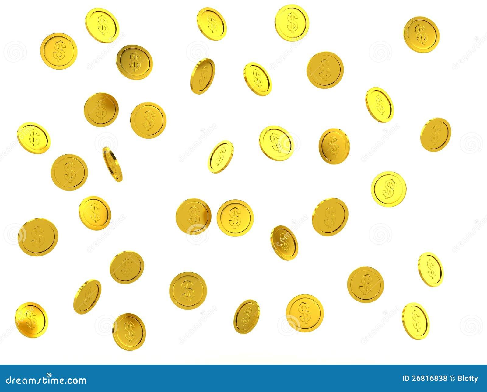 Gold coin rain.