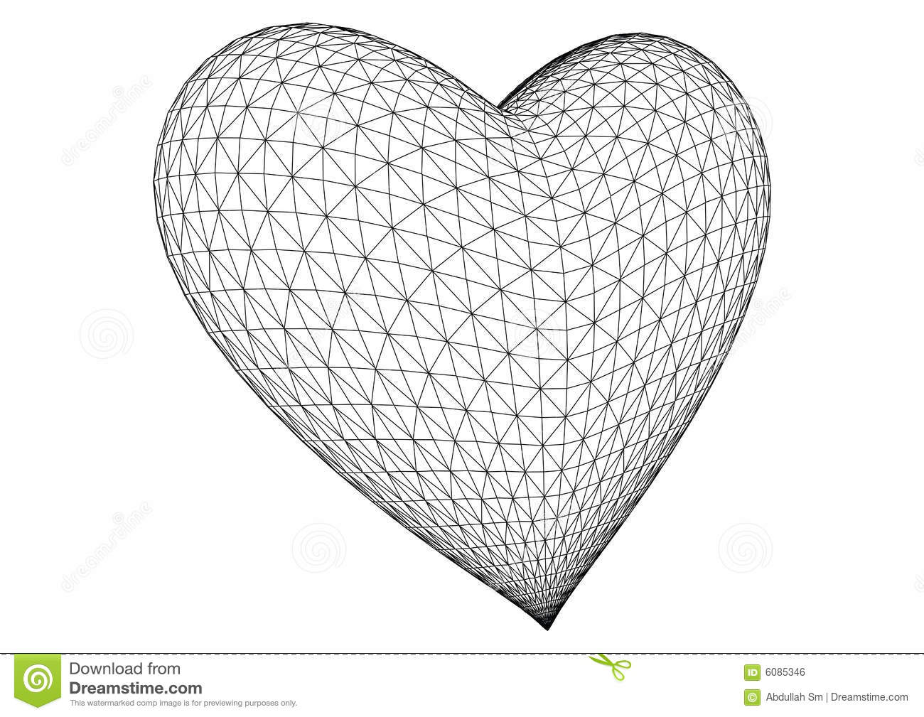 3d Rendered Heart Vector Royalty Free Stock Image