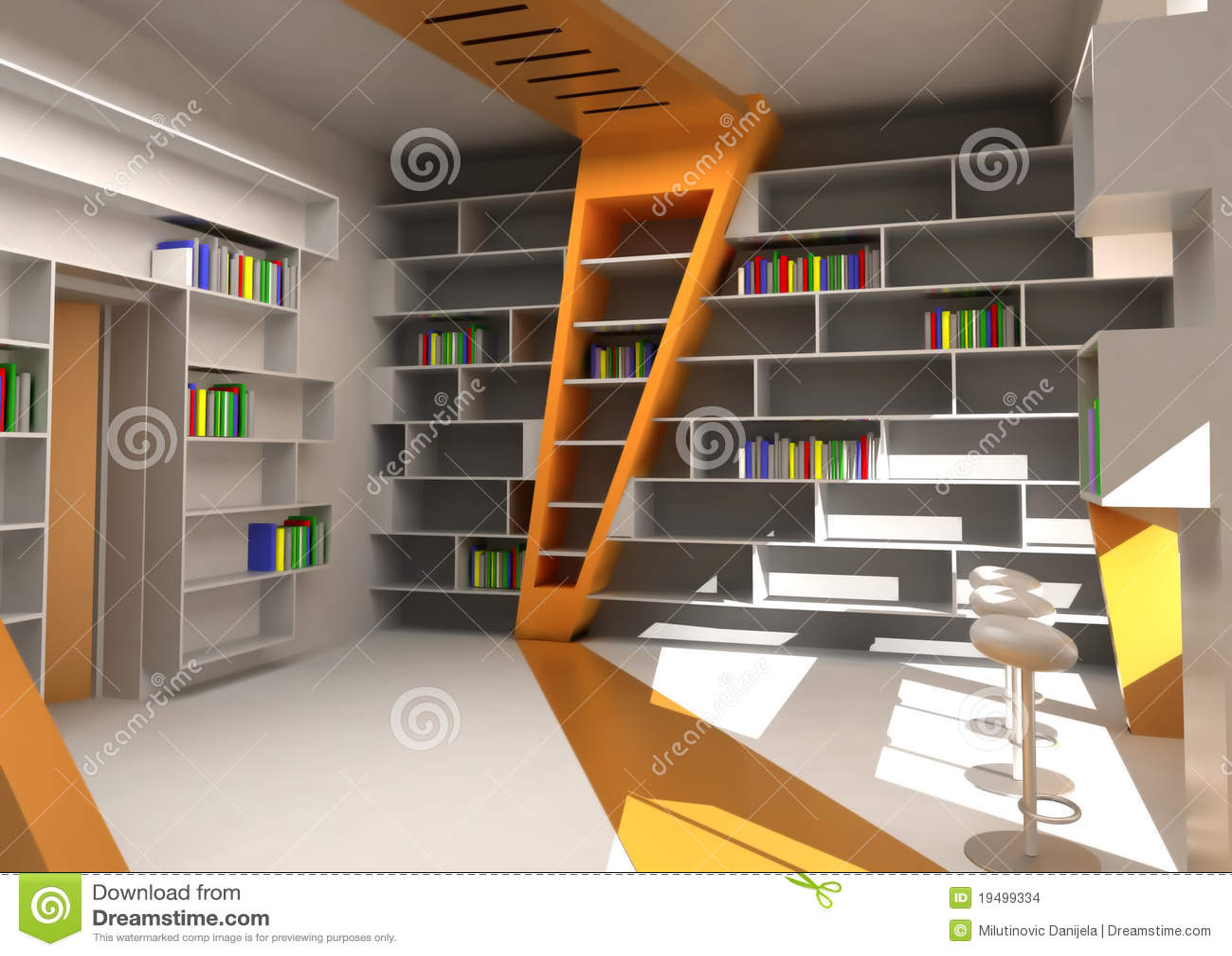 3D rendering stock illustration  Illustration of library - 19499334