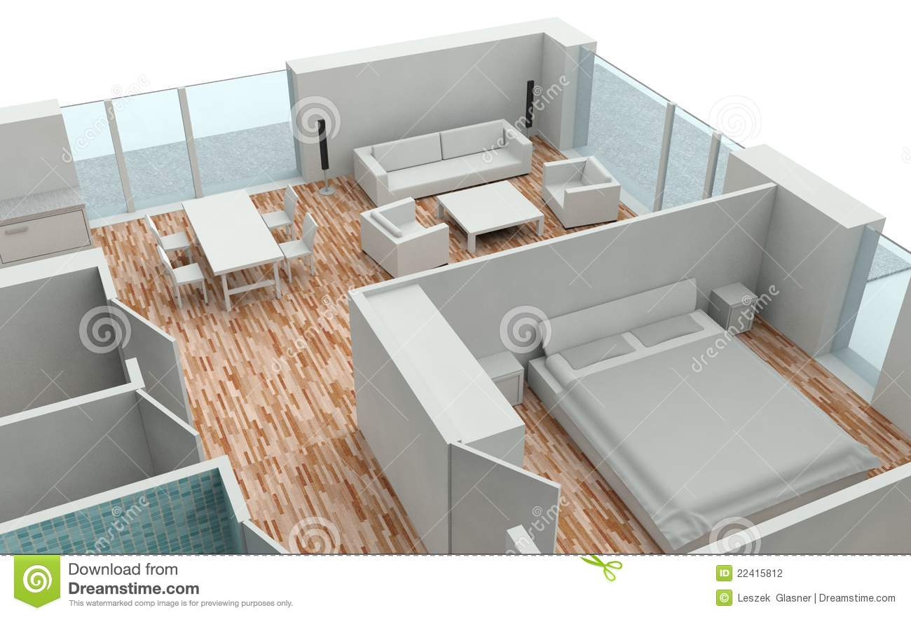 3D endering House Plan Stock Photography - Image: 22415812 - ^