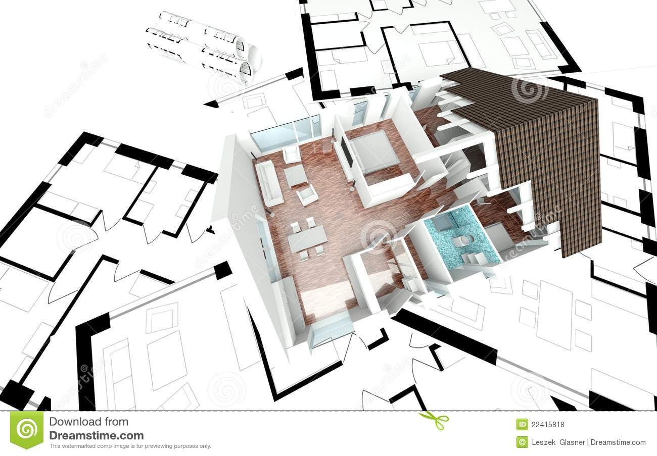 3d rendering house plan royalty free stock photos image Rendering floor plans