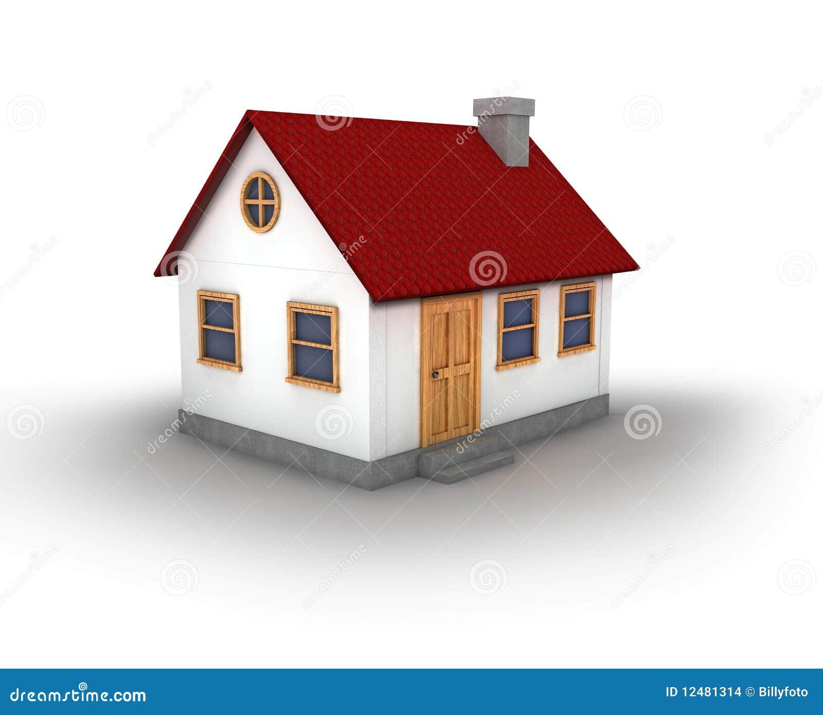 3d rendono di una casa illustrazione di stock immagine di