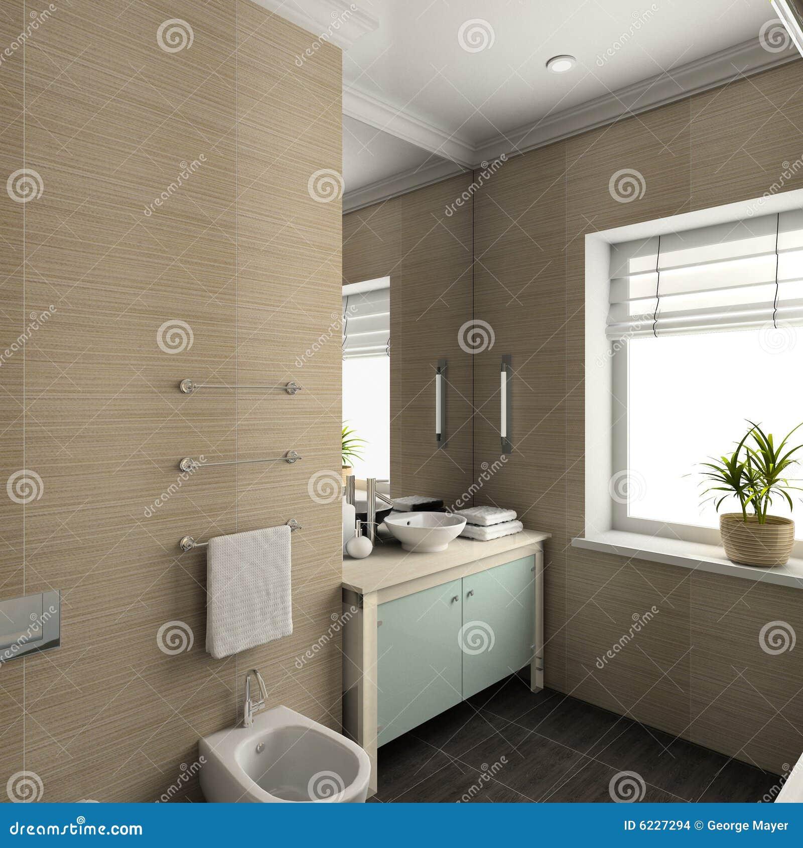 3d rendono l 39 interiore moderno della stanza da bagno for Stanza da bagno