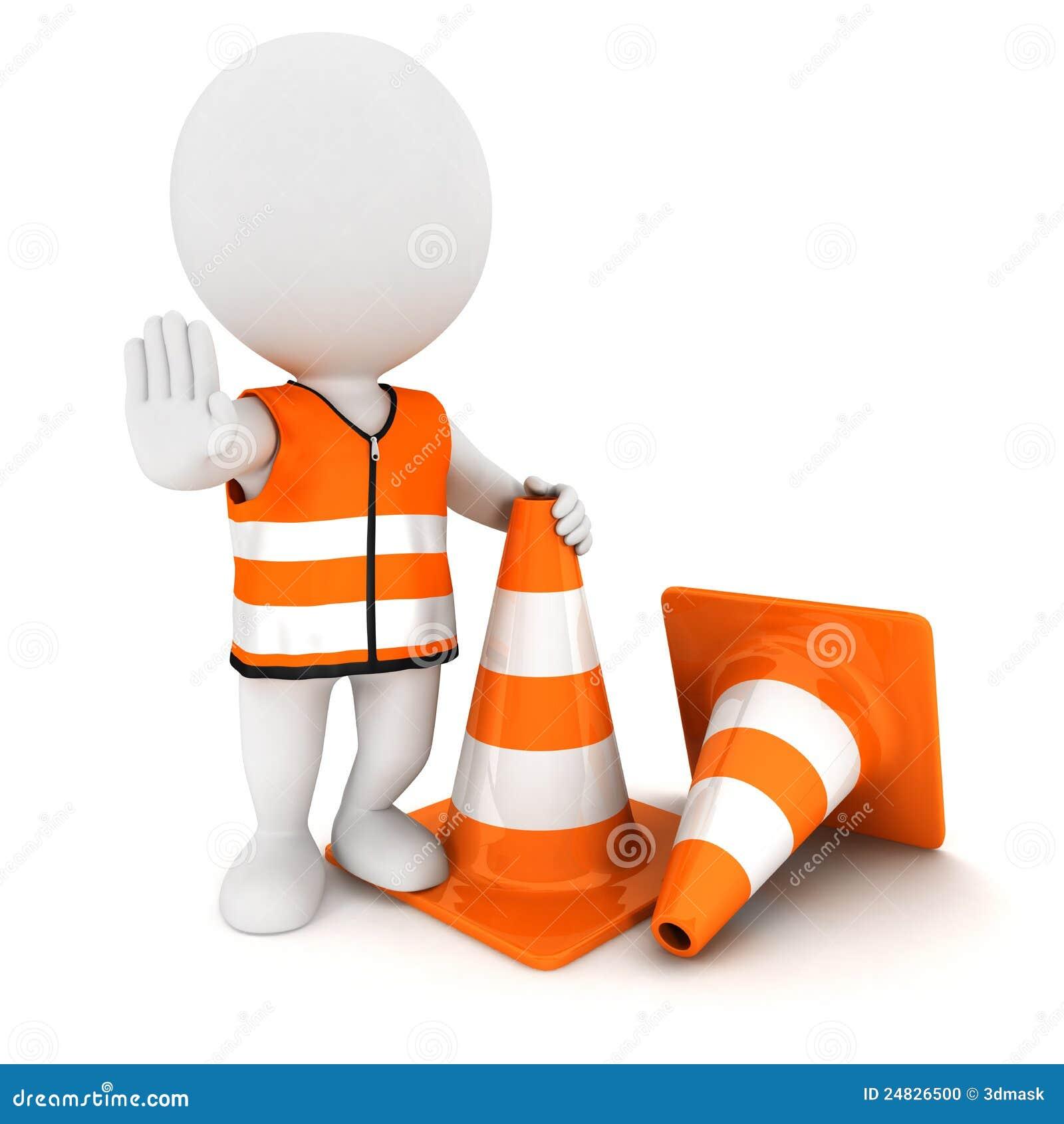 3d rożków ludzie znaka przerwy ruch drogowy biel