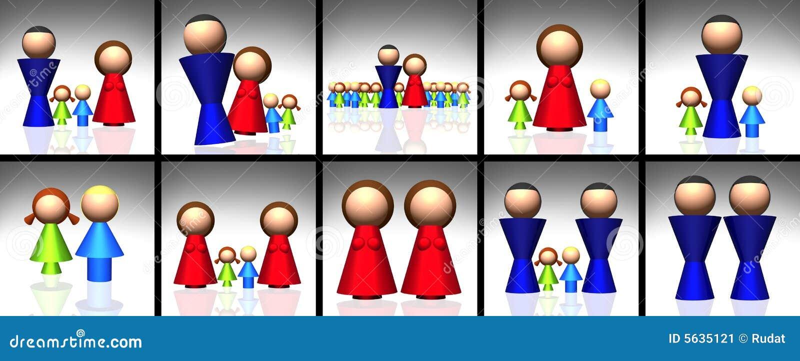 3d rodziny ikony