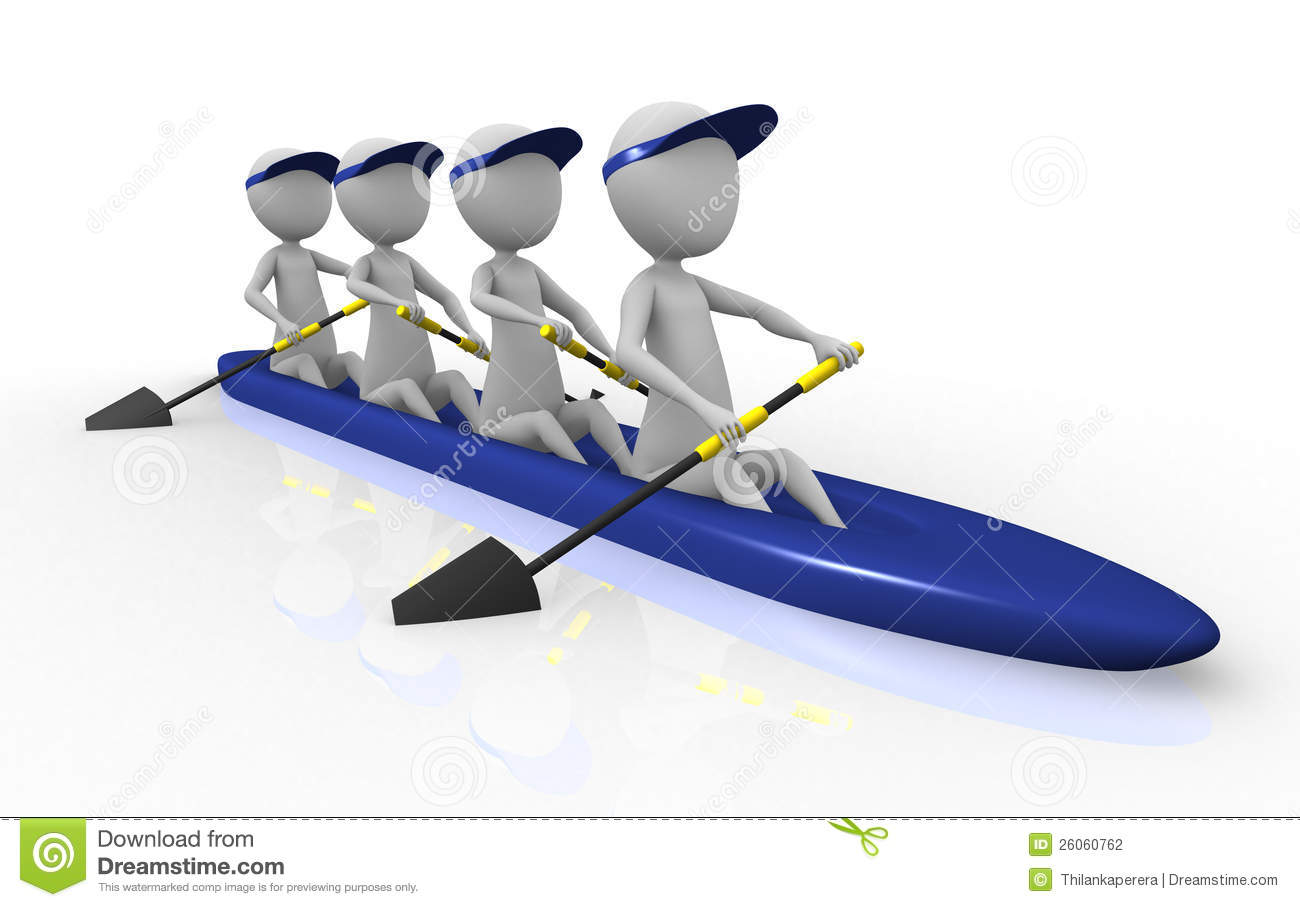 3d Rowing Team Stock Photography - Image: 26060762