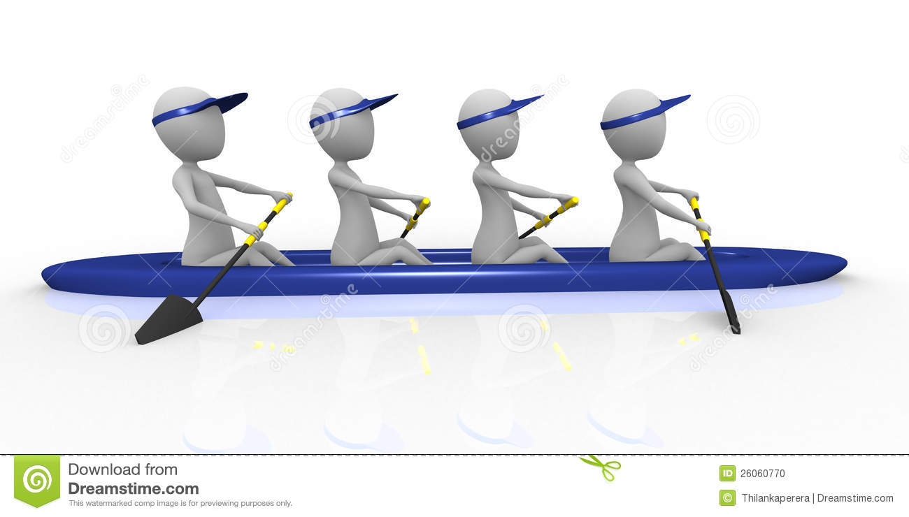 3d Rowing Team Stock Photo - Image: 26060770