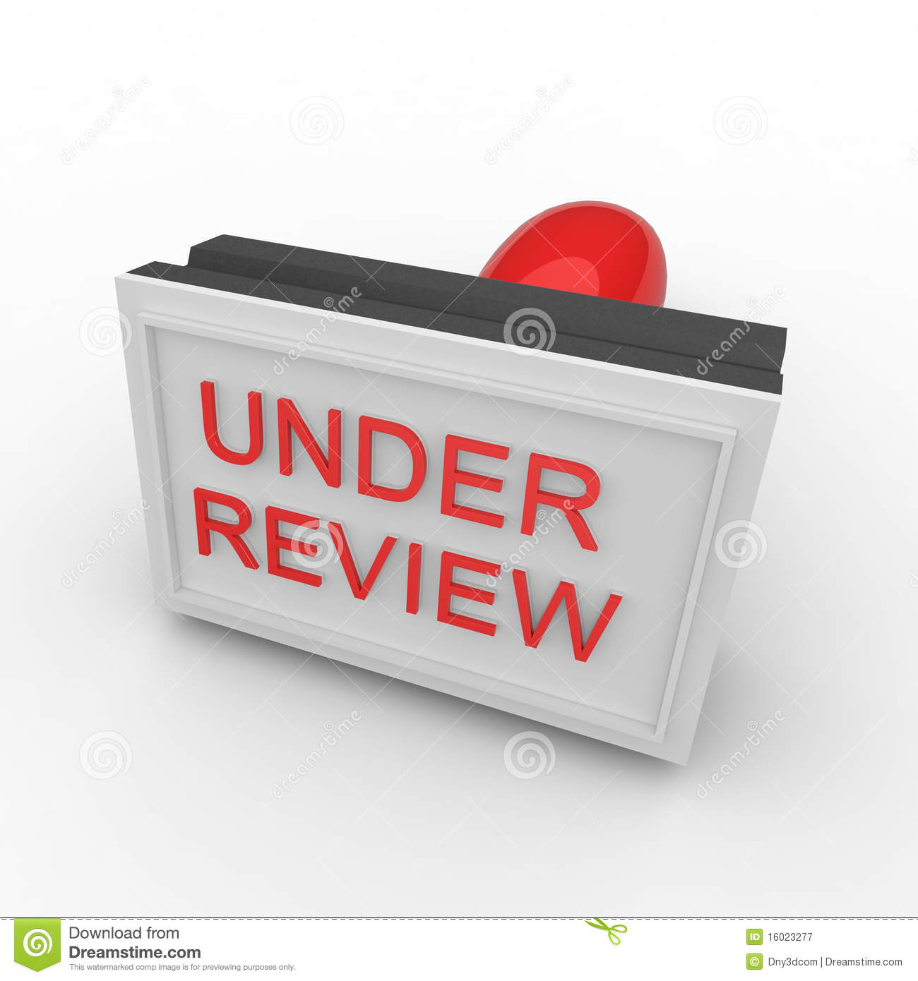 3d Rubber Stamp Under Review Royalty Free Stock