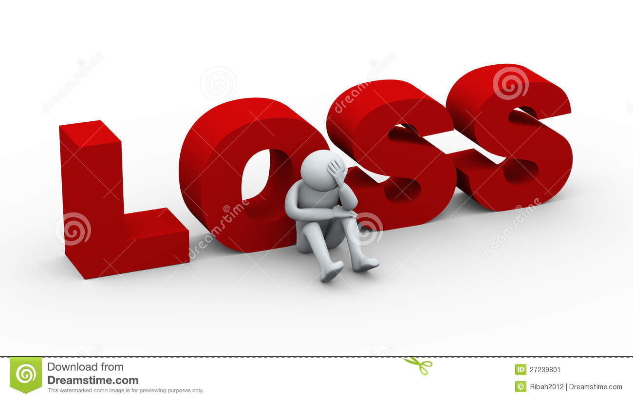 3d sad man and word loss stock illustration illustration of credit
